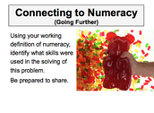 CONNECTING TO NUMERACY & PROCESSES