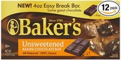 Unsweetened chocolate bar