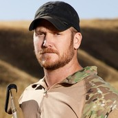 this is a picture of Chris Kyle in training.