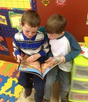 Reading with your buddy is always fun :)