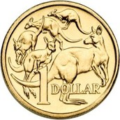 The Australian dollar coin, which will likely be worth only 65 cents this year.