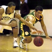 Russell Wilson in High school basketball.