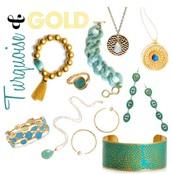 Stylish Turquoise & Gold