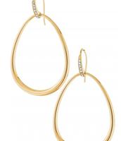 Goddess Teardrop Earrings in gold