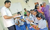 Anand With School Children