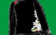Nas costas, complemento do kilim e flor.