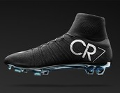 Black Cr7 cleats