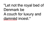 King Hamlet's Soliloquy