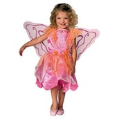 Childrens Toddlers Girls Pink Pixie Costume