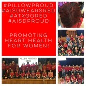 Our Pillow staff & students are #AISDproud to #atxgored #AISDWearsRed!