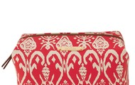 Pouf - Red Ikat - SOLD