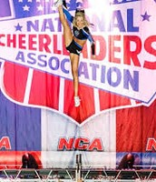 Carly Manning doing her kick double