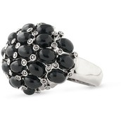 Midnight Bloom Ring-Size 6