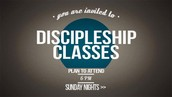 Discipleship Classes Continue This Sunday!