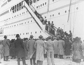 Immigrants Boarding A Steamship In Africa