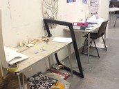Untidy study areas