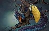 The dragon that protects the Golden Fleece
