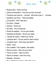 Printable List of extra phrases for 6th grade