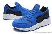 Low cut blue and black hurraches
