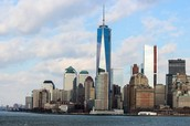 Freedom Tower (the really tall, silverish building)