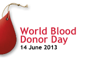 World blood donor day sign