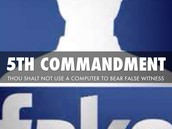 Computer Commandment #5