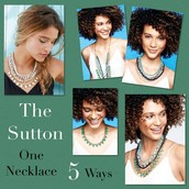 SUTTON NECKLACE - GREEN STONE - $178