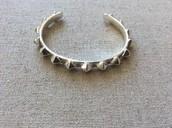 Pyramid Stud Cuff - Silver
