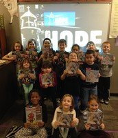 First grade students share their gifts and talents with the patrons at Hope Rescue Mission