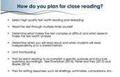 How do you plan for close reading?