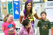 Special ed. teacher in classroom