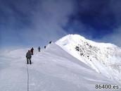 The trek to the mountains