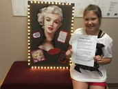 Kylee's book project presentation on Marilyn Monroe.