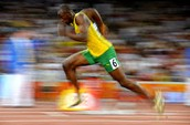 Usain running for his life!