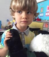 Wyatt loves Perkins Panda!