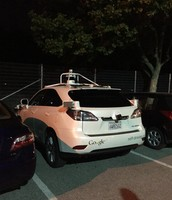 A driverless car in Mountain View