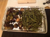 Green Beans and Brussels Sprouts