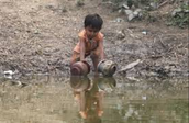 A person suffering from water