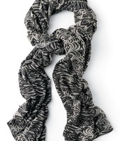Union Square scarf - painted zebra pattern