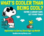 Lead by example, and get your library card!