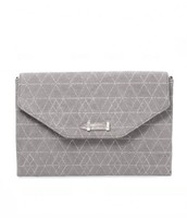 City Slim Clutch, gray slate