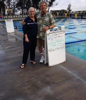 "Cathy with Coach ""Sickie"" in San Diego"