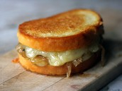 Un Sandwich Au Fromage (Du pain, de l'oignon, et du fromage)