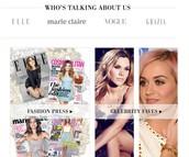 Fashion press and celeb favourite!