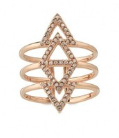PAVÉ SPEAR RING - ROSE GOLD R158RG - $25
