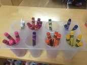 Awesome Spy #1: creative sorting:not too many-just the right amount of crayons out.  Overcrowding materials can cause disruptions in the classroom.  Rotate items out if needed.