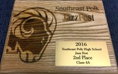 MHS Jazz Ensemble - 2nd Place Finish
