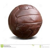 A very old football