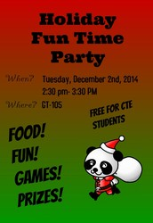 Holiday Fun Time Party is tomorrow!