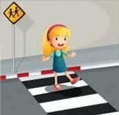 Cruzar Siempre Por La Senda Peatonal